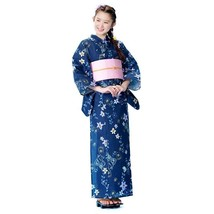 Rapunzel Navy Yukata And Obi Set Japanese Cotton Kimono For Summer Disney Japan - $175.00