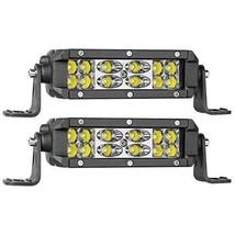 Wayup LED Light Bar 2Pcs 5 Inch 72W OSRAM LED Work light Pods Spot Flood Combo O