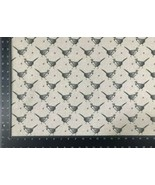 Vintage Pheasant Grey Beige Linen Look High Quality Fabric Material 3 Sizes - $7.37+
