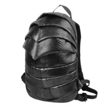 beetle shape creative teenagers cool snakeskin pattern PU backpack - $48.00