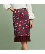 Anthropologie Maeve Nico Pencil Skirt Sold Out Size 2 floral roses ponte... - $37.37