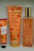 3 Piece Set Bodycology Pumpkin Spice -Fragrance Mist-Body Cream-Hand Cream - $54.44