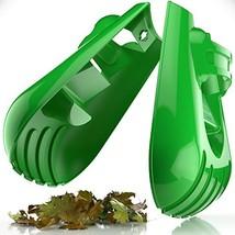 Sleek Garden Series Ergonomic Large Leaf Scoop Hand Rakes –Fast Leaf, De... - $24.72