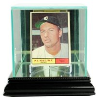 Card Display Case with Glass Top and Black Base - $54.46