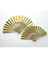 Vintage solid BRASS Japan FAN Asian set - $45.00
