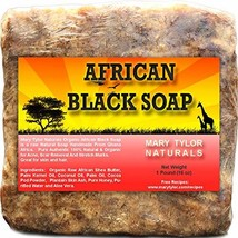 African Black Soap 1 lb by Mary Tylor Naturals, Raw, Natural soap for Acne, Ecze