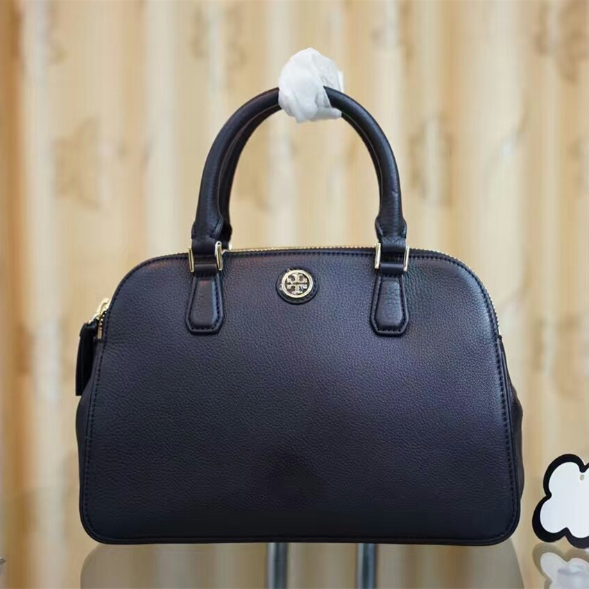 b685326ff Mmexport1491471054886. Mmexport1491471054886. Previous. Tory Burch Robinson  Pebbled Small Double-zip Satchel