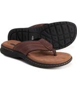 Dr. Scholls Men Apalache Grant Comfort Flip-Flops Briar Brown Leather Si... - $28.00