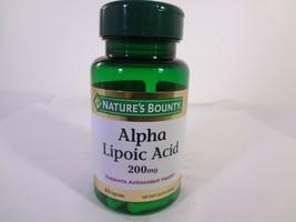 Nature's Bounty Alpha Lipoic Acid 200 mg 30 Capsules 23-N - $10.89