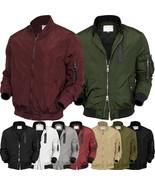 Mens BOMBER Jacket  MA-1 Windbreaker Active Fashion Slim Biker Padded Light - $28.49 - $37.99
