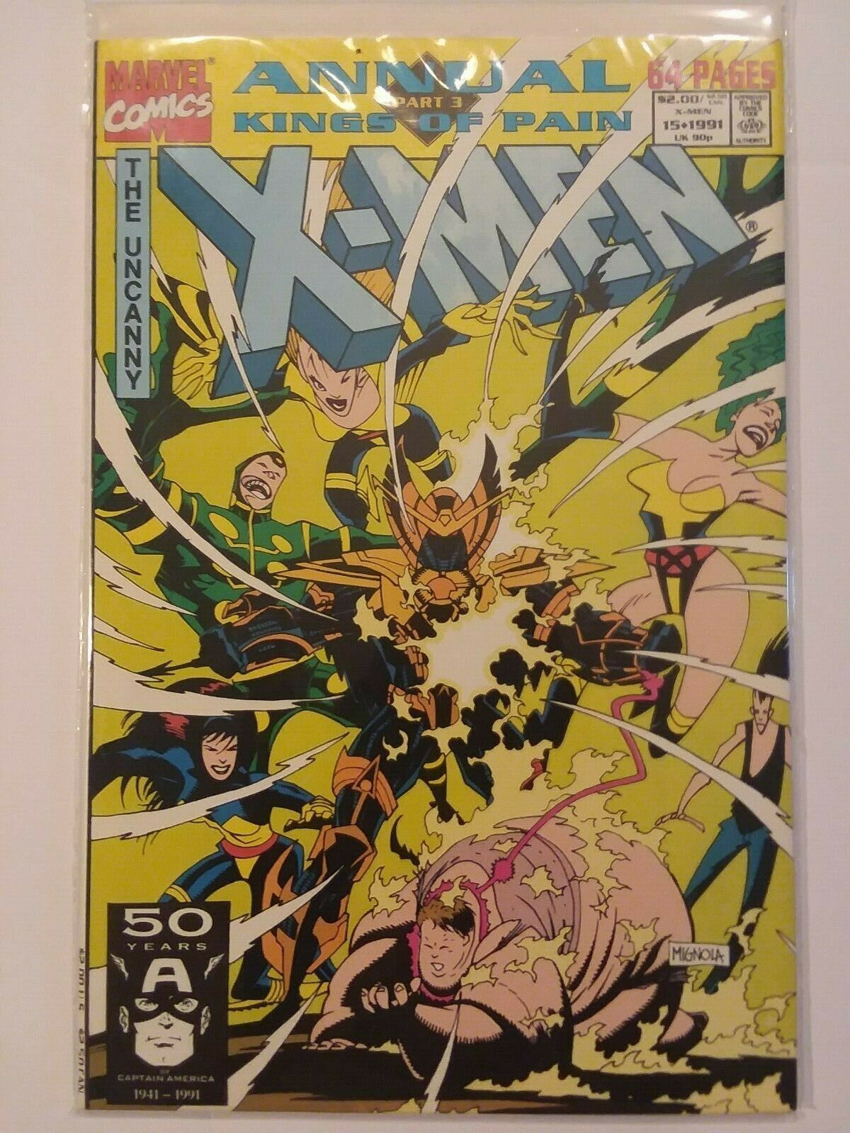 Primary image for X-Men annual #15 + NEW MUTANTS ANNUAL #7 (1991) Mignola Cover X-Force uncanny