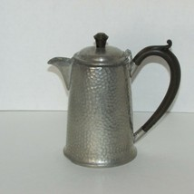 CIVIC PEWTER ANTIQUE COCOA OR SMALL COFFEE POT 3137 HAMMERED 1920s ENGLA... - $23.76