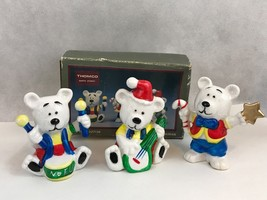 Thomco Christmas Bears Vintage Figurines Collectibles - $6.17