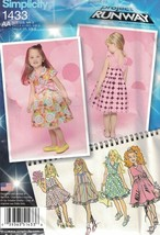 Simplicity 1433 Project Runway Toddlers Childs Dress w/ Bodice Size 1/2 ... - $9.89