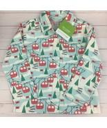 Garnet Hill Kids Flannel Pajama Top Shirt Size S Printed Ski Lift NWT Sl... - $13.98
