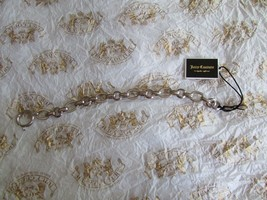 Juicy Couture Bracelet Classic Plain Links Add Charms NEW - $27.72