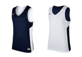 Nike Reversible Basketball Game Practice Jersey Men's 2XL White Navy 867766 - $10.40