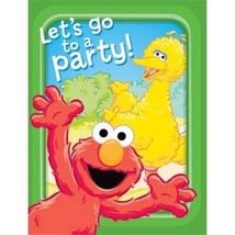 Sesame Street Invitations and Thank You Combo 8 Count Birthday Party Supplies - $3.95