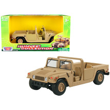 Humvee Military Base Platform Brown 1/24 Diecast Model Car by Motormax 7... - $36.51