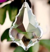 38MM 50MM 63MM Maple Leaf Shape Clear Glass Prisms Chandelier Crystal Lamp Parts - $16.87+