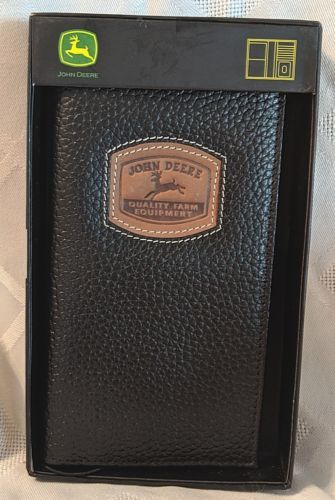 John Deere LP35483 Gem Dandy Accessories Black Leather Check Book Cover