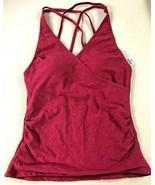 Tropical Escape Women's Surplice Tankini Swim Suit TOP Pink Paisley, SZ 22 - $23.74