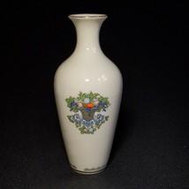 """1 (One) LENOX AUTUMN Bud Vase Gold Mark Ivory 24K Gold Trim 7 1/4"""" USA - $27.54"""
