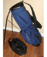 Ping Hoofer Carry Stand Bag/4-way Divider/Rain Cover Logo Zipper need re... - $79.20