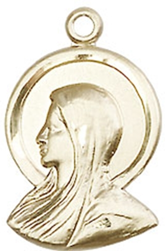 Madonna medal   gold filled   no chain   0020