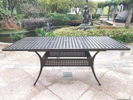 9 piece outdoor dining set Rubaiyat Expandable Table cast aluminum furniture. image 2