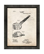 Golf Stick Patent Print Old Look with Beveled Wood Frame - $24.95+