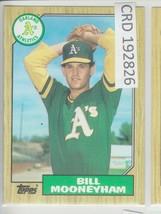 1987 Topps Bill Mooneyham Pitcher Oakland A's #548 192826 - $1.86