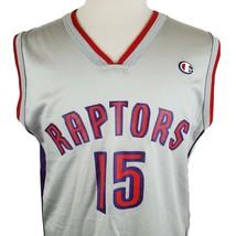 Vintage Vince Carter #15 Toronto Raptors Champion Jersey Sz M 40 NBA Bas... - $38.99