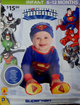 NEW Baby Superman Infant 4-Piece Halloween Costume 6-12mos - $9.74