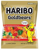 Haribo Gummi Candy, Original Gold-Bears, 5-Ounce Bags (Pack of 12) - $20.99