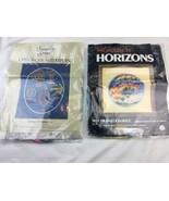 Vtg Horizons hot AIR BALLOON Needlepoint Kit Longstitch - Both Missing C... - $22.41