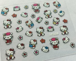 Bang Store Nail Art 3D Glitter Decal Stickers Hello Kitty Flowers Cute Kawaii - $3.67