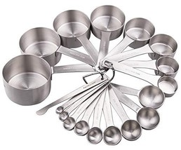 Lucky Plus Stainless Steel Measuring Cups and Spoons Set (20pcs per set) - $53.79