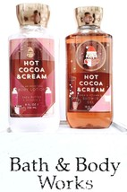 Bath & Body Works Hot Coco & Cream Body Lotion & Bath Gel Gift Set of 2 - $20.05