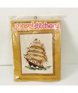Sunset Stichery Clipper Ship Sewing Kit Boat Before Wind Stitchery Embro... - $39.99