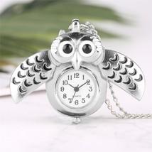 Fashion Silver Unisex Vintage Slide Smart Owl Pendant Antique Necklace P... - $10.99