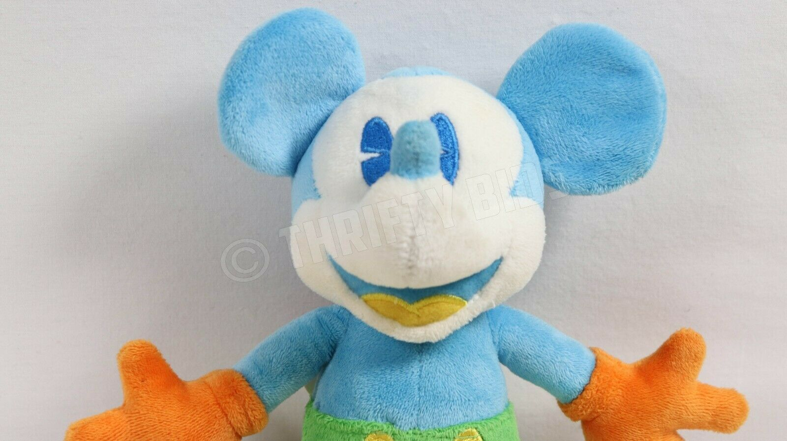 "Disney Parks 10"" Blue Yellow Mickey Mouse Stuffed Plush Toy With Original Tags"
