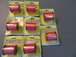 Lot of 8 Brand New Curling Ribbon party supplies red 800 yards - $7.20
