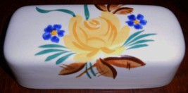 Red Wing PICARDY PATTERN Hand Painted Butter Dish LID ONLY Made in Minne... - $19.79
