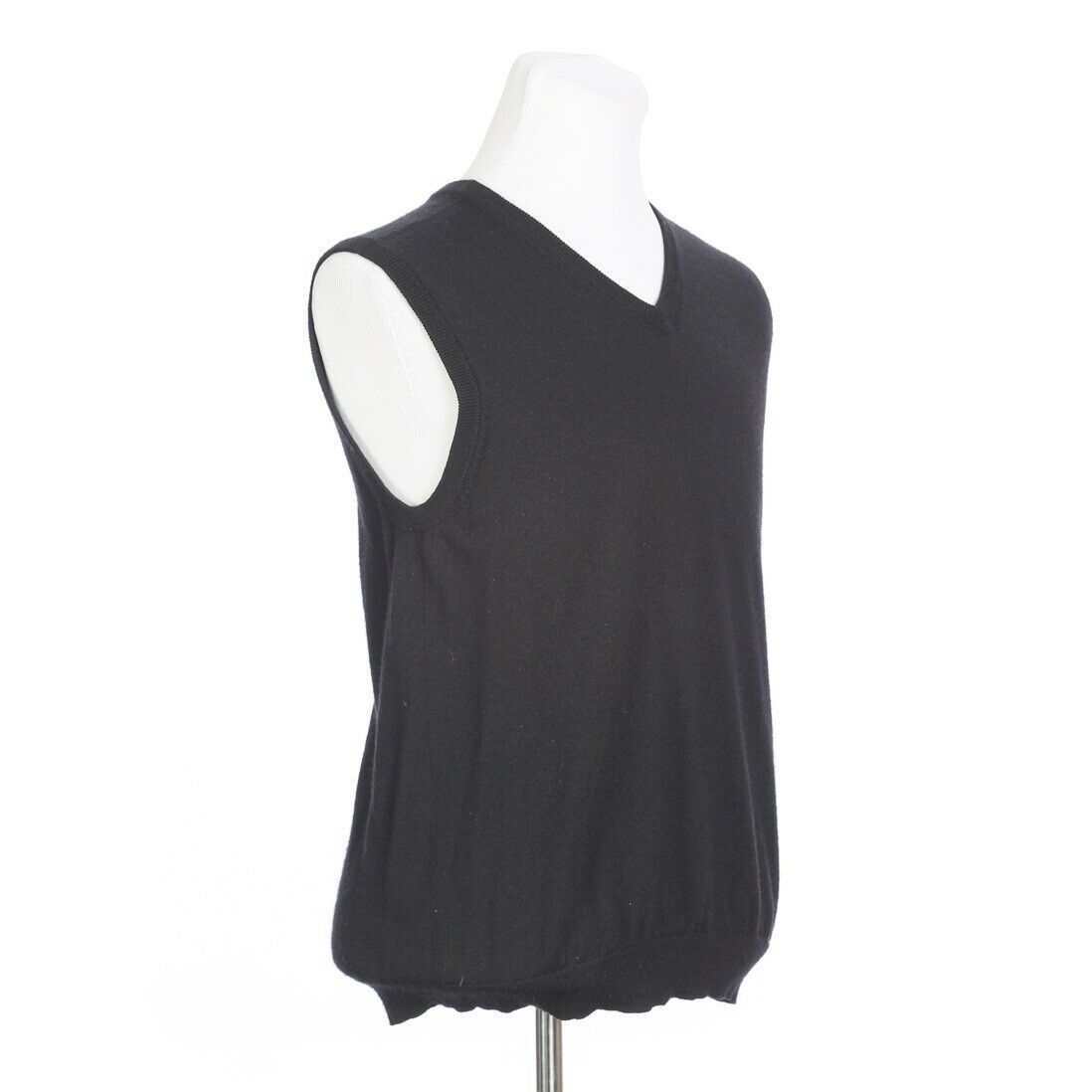 Brooks Brothers Extra Fine Merino Wool Solid Black Sweater Vest Mens Medium image 5