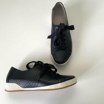 Dansko Orli Women's Leather Sneaker Shoe Arch Support 39 8.5 Black Comfort - $49.45