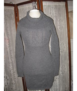NEW Jr.'s Womens M Gray Knitted Wool Blend Cable Stitch SWEATER DRESS PR... - $13.95