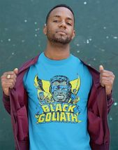 Black Goliath t-shirt Marvel Bill Foster Giant-Man retro 70's comics blue tee image 3