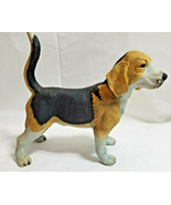 "Male  Harrier Hound Dog Porcelain Figurine Standing 6"" Tall Brown Black - $24.95"