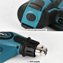 Makita HG6500 Heat Gun 220V , 2000W , 60Hz 4 Nozzle with LCD Display Soft Grip image 5